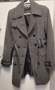 Costa Blanca Collection Tweed Dress/Trench Coat
